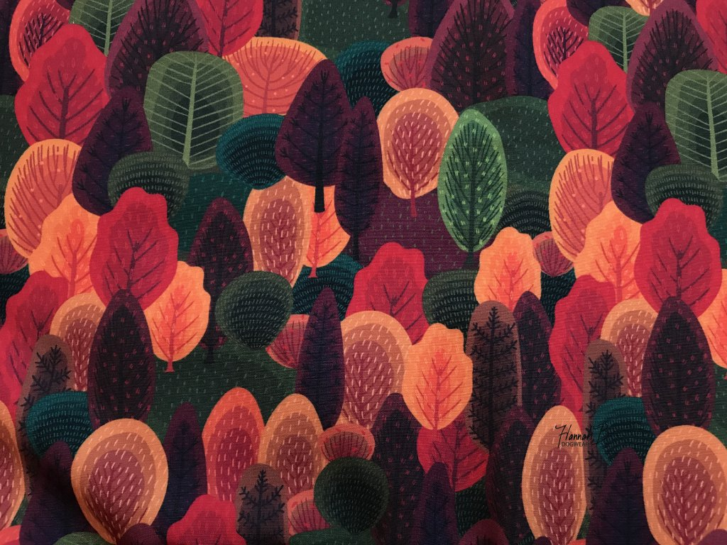 Vodítko podzimní les