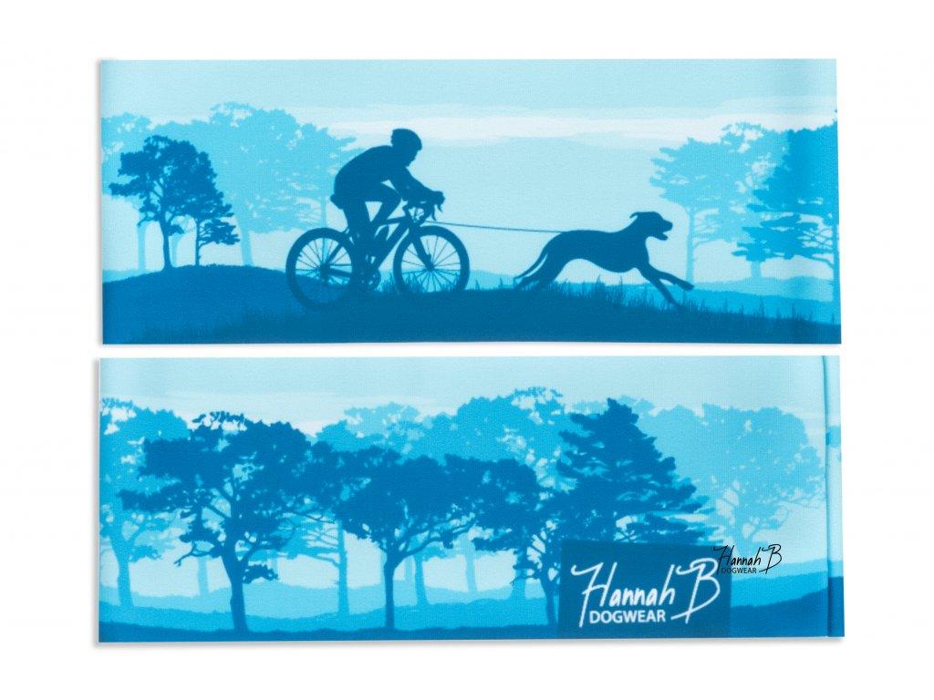 hannahb dogwear celenka bikejoring kolo se psem modra