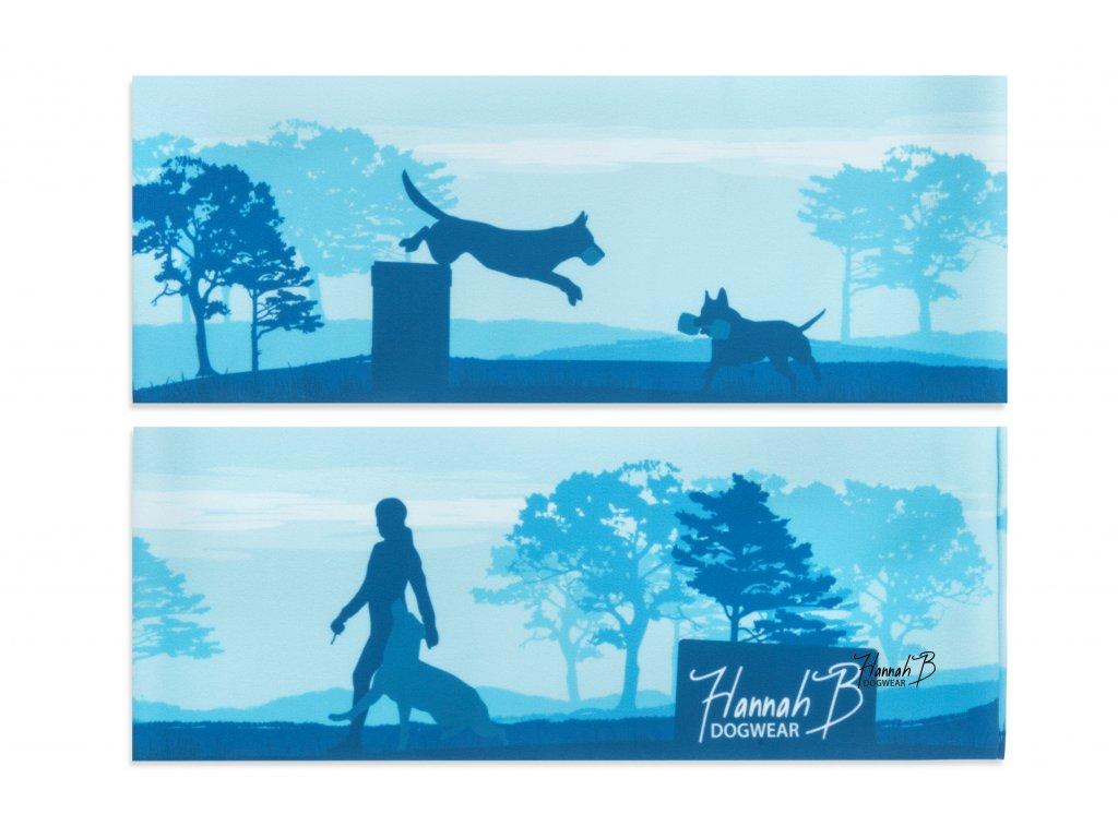 hannahb dogwear celenka poslusnost modra