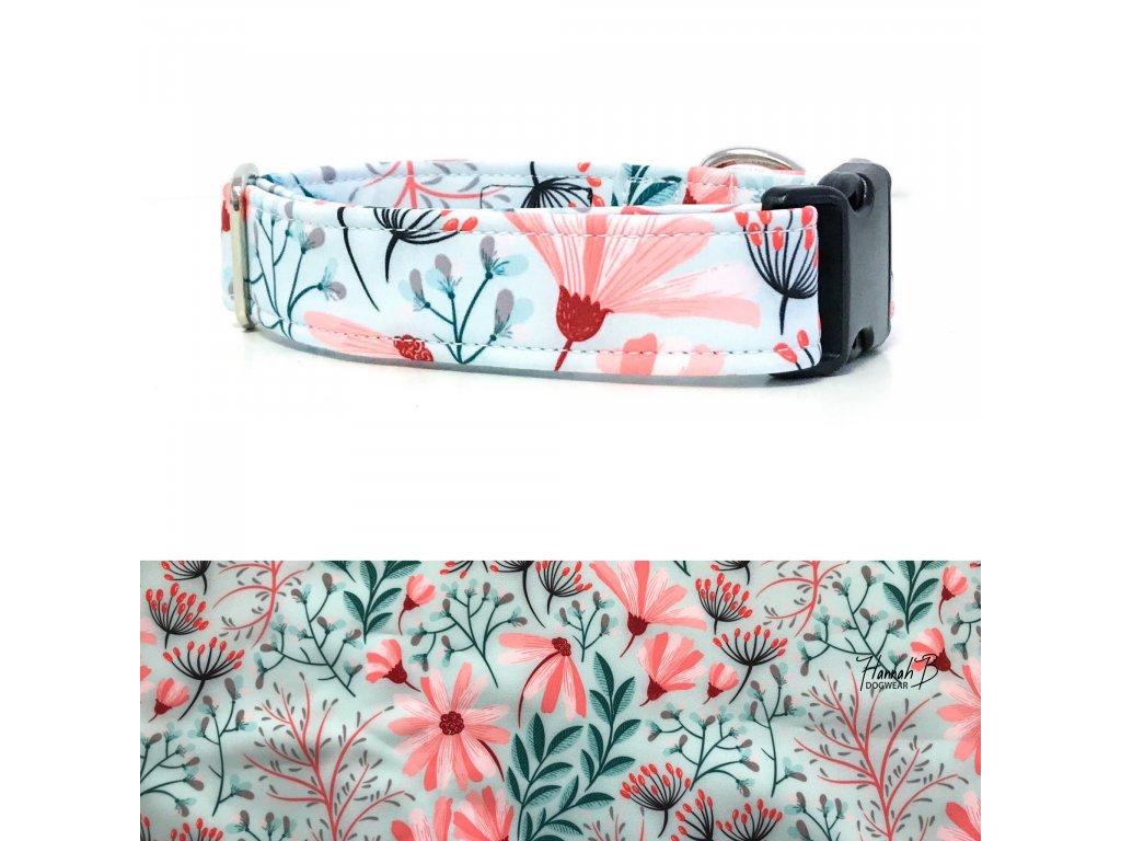 Obojek softshell pastelové květy