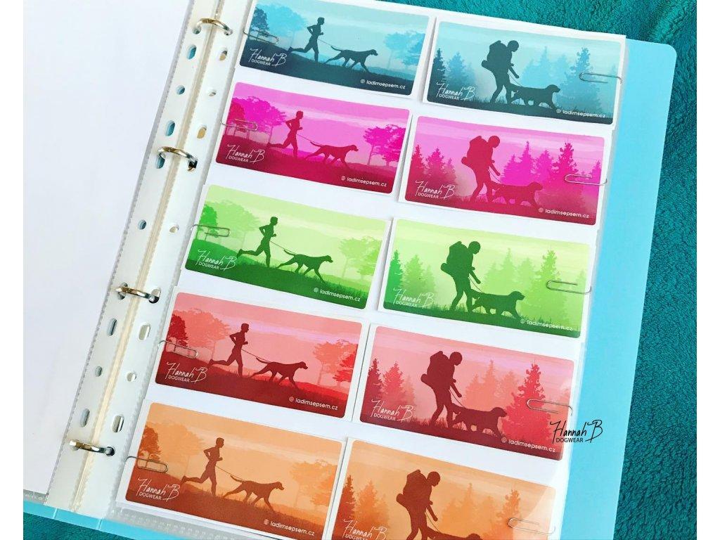 Samolepky s psími sporty - 5 barev