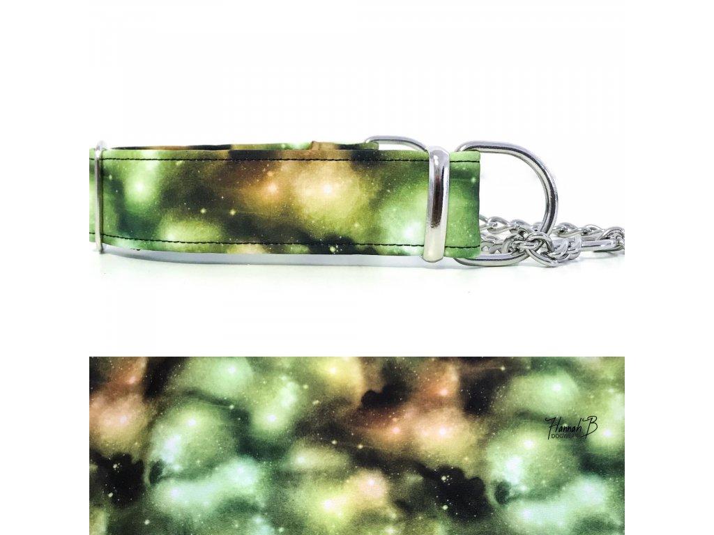 Obojek softshell vesmír zelený