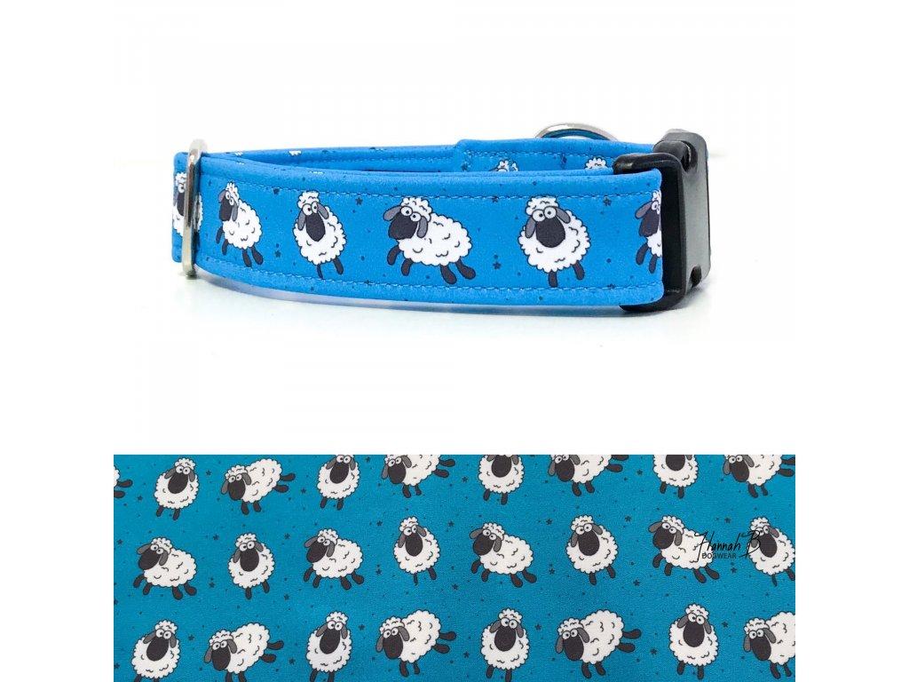 Obojek softshell ovečky na modré