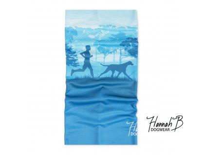 HannahB nakrcnik canicross modra