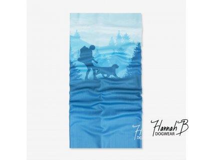HannahB nakrcnik dogtrekking modra