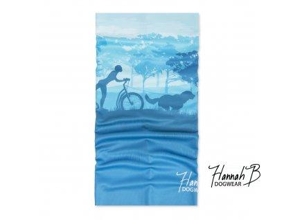 HannahB nakrcnik kolobezka modra