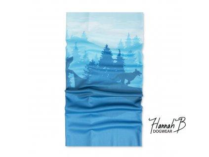 HannahB nakrcnik mushing modra