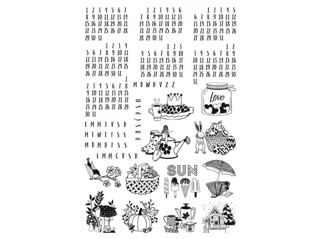 Diářová razítka, Kalendárium