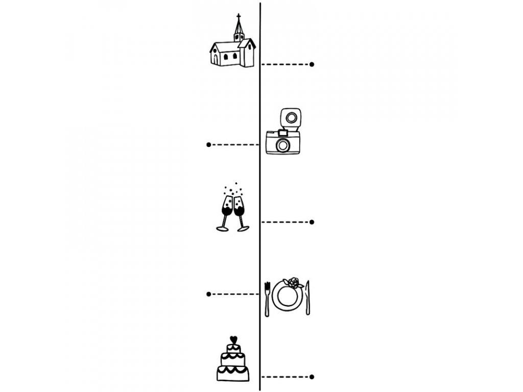 Dřevěné razítko - svatební metr
