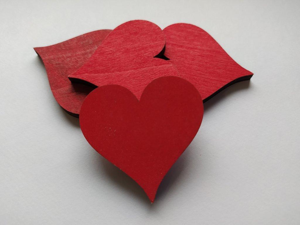 Barevné srdce 45mm