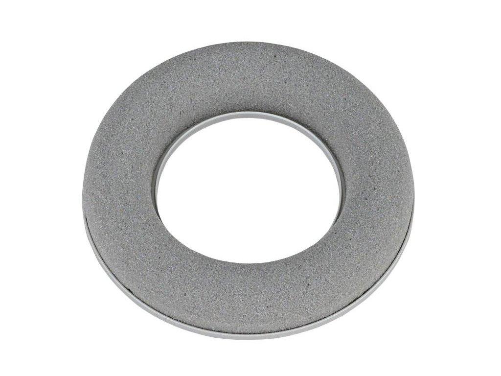 Aranžovací hmota -  šedý věnec (Šíře průměr 30 cm)