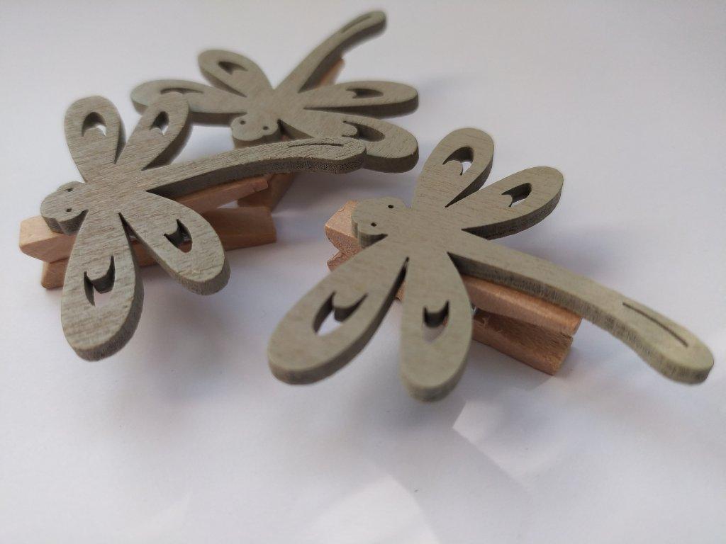 Dřevěné tvary na kolíčku - JARO