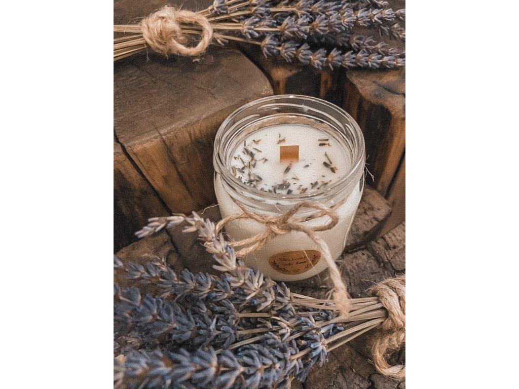 Levandule rozmarýn dřevěný knot