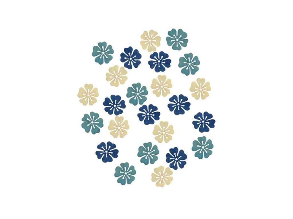 Dřevěné květy 2 cm