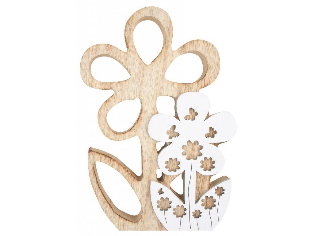 Dřevěná květina