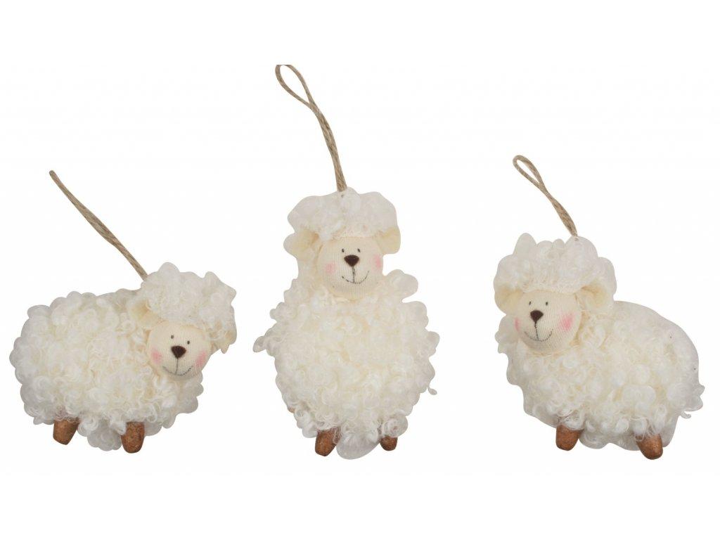 Kudrnatá ovečka k zavěšení