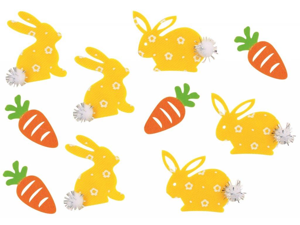 Samolepící zajíci a mrkve