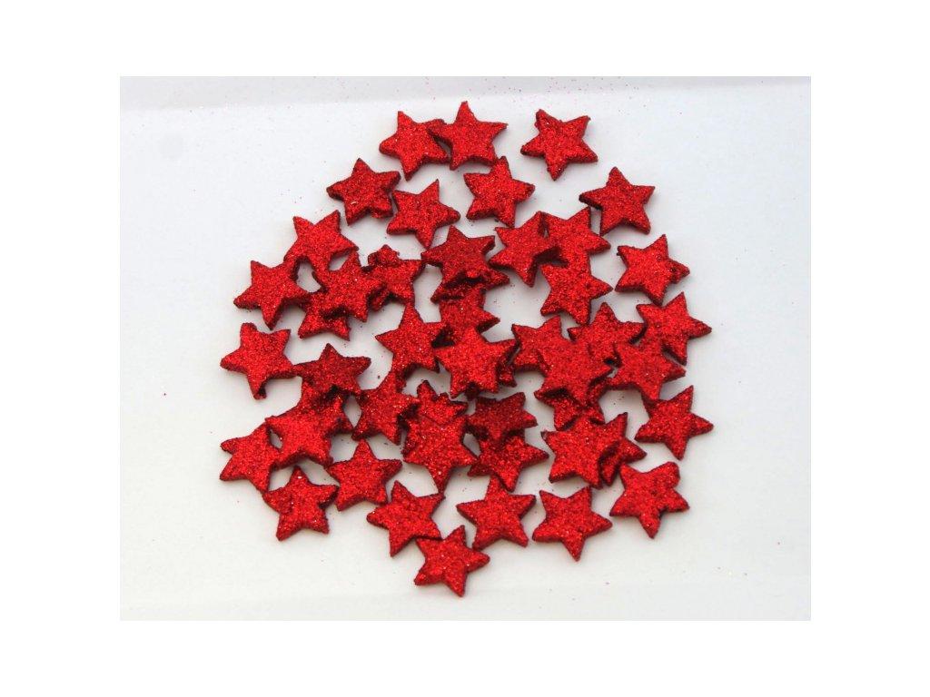 Hvězda 2,5cm, mix barev