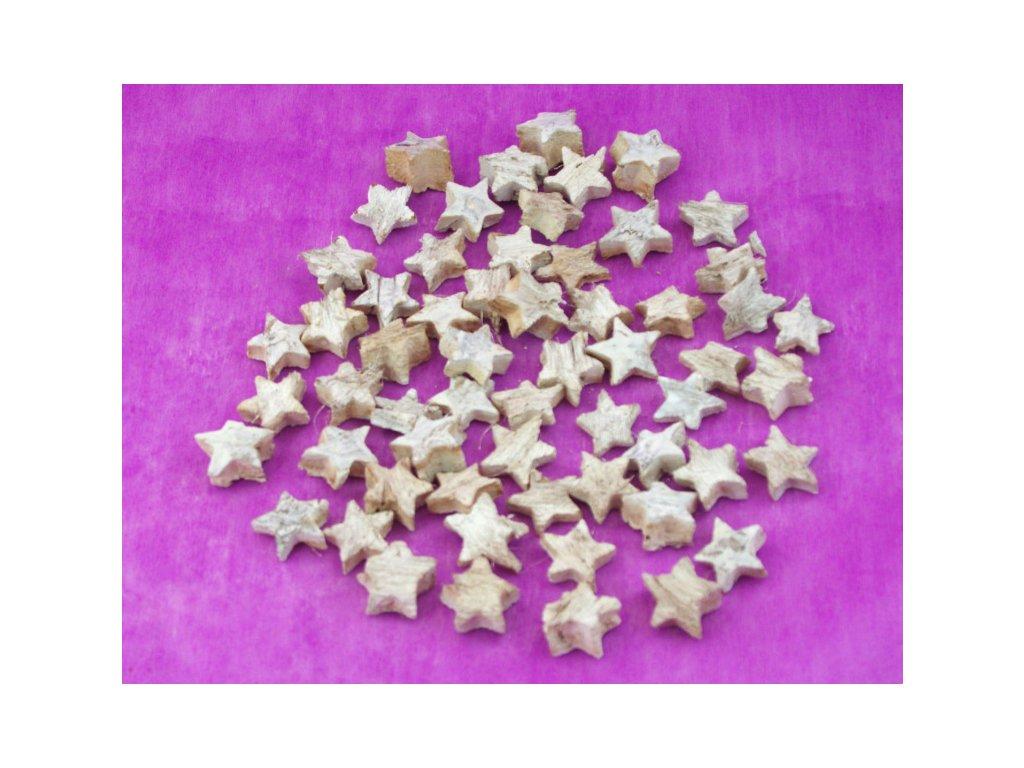 Hvězda 2,5cm, bílá