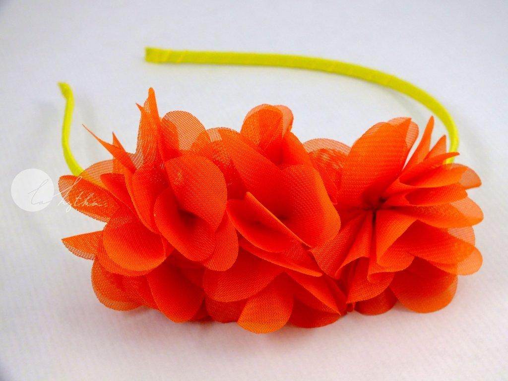 Čelenka žluto-oranžová