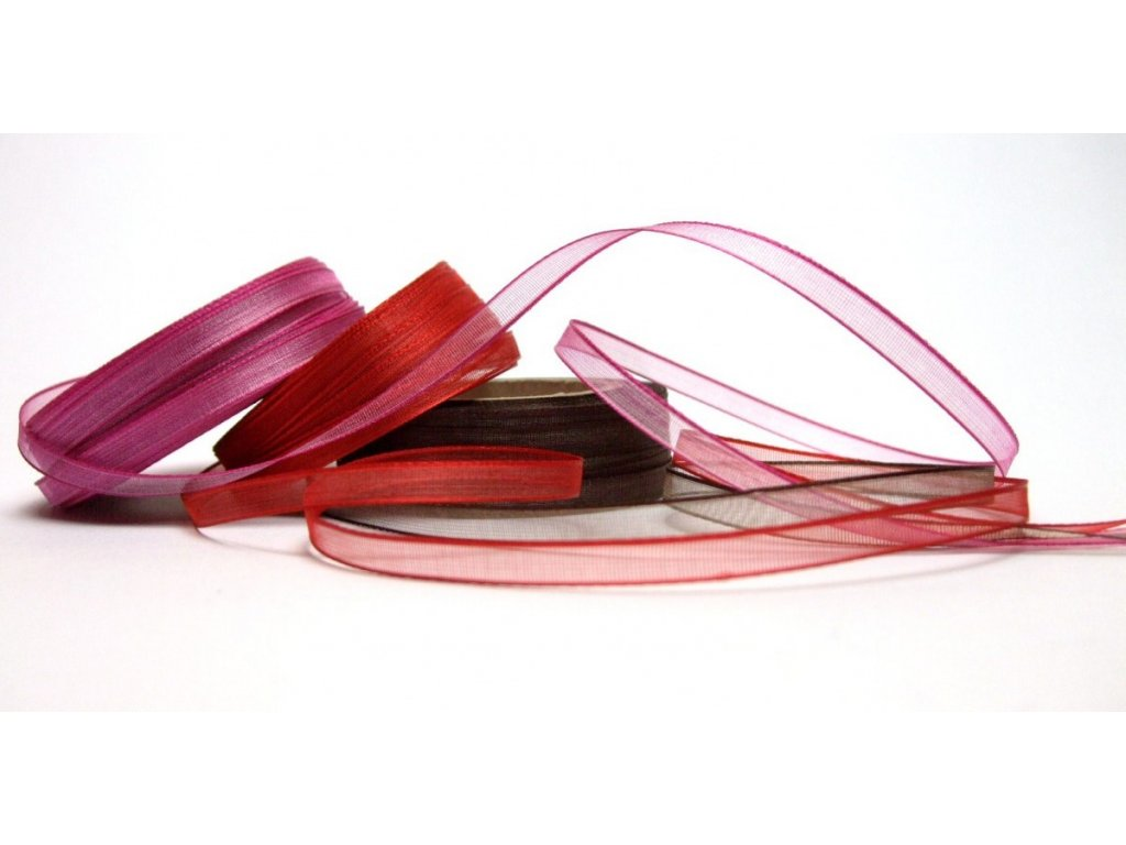 Monofilová stuha, 6 mm (Barva 645 Červená)