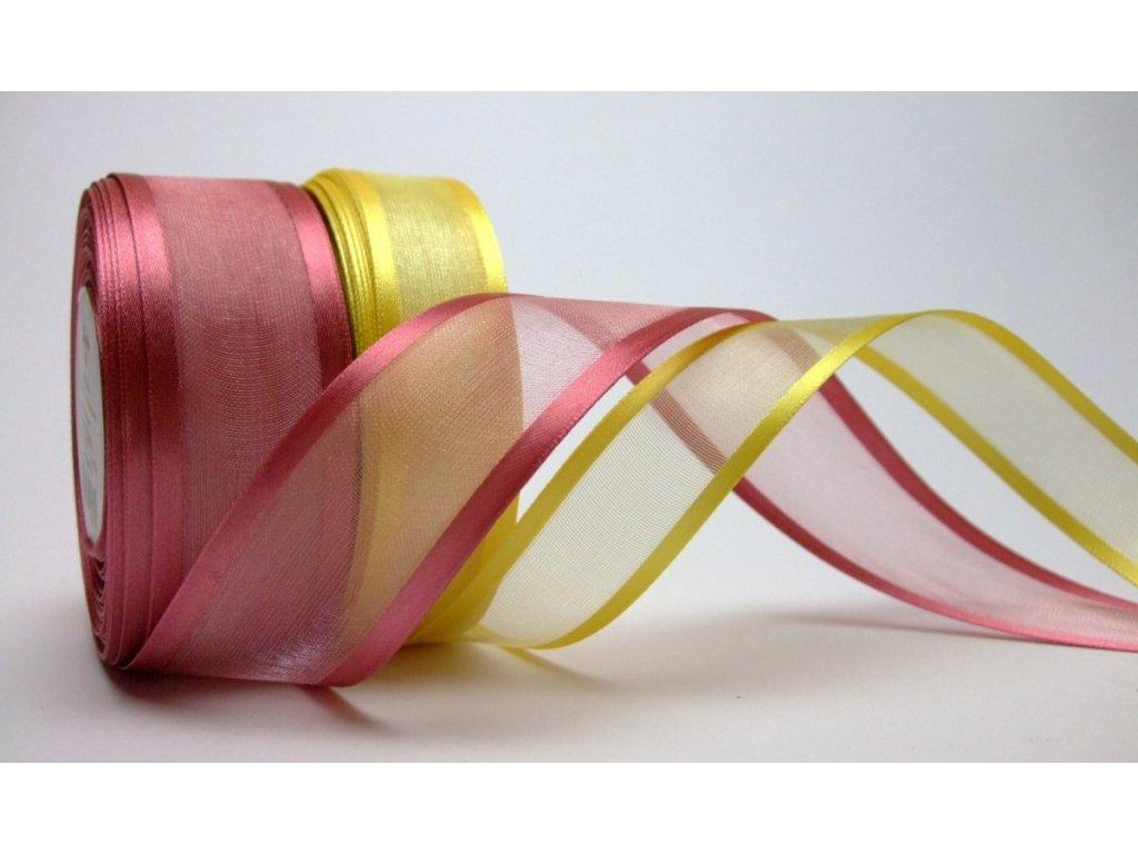 Monofilová stuha, 40 mm (Barva 662 Růžová)