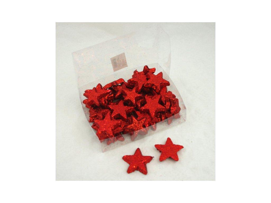 Hvězda 4-5cm 10ks, mix barev