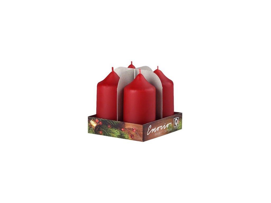 Adventní svíčka MAT 4*7,5 cm