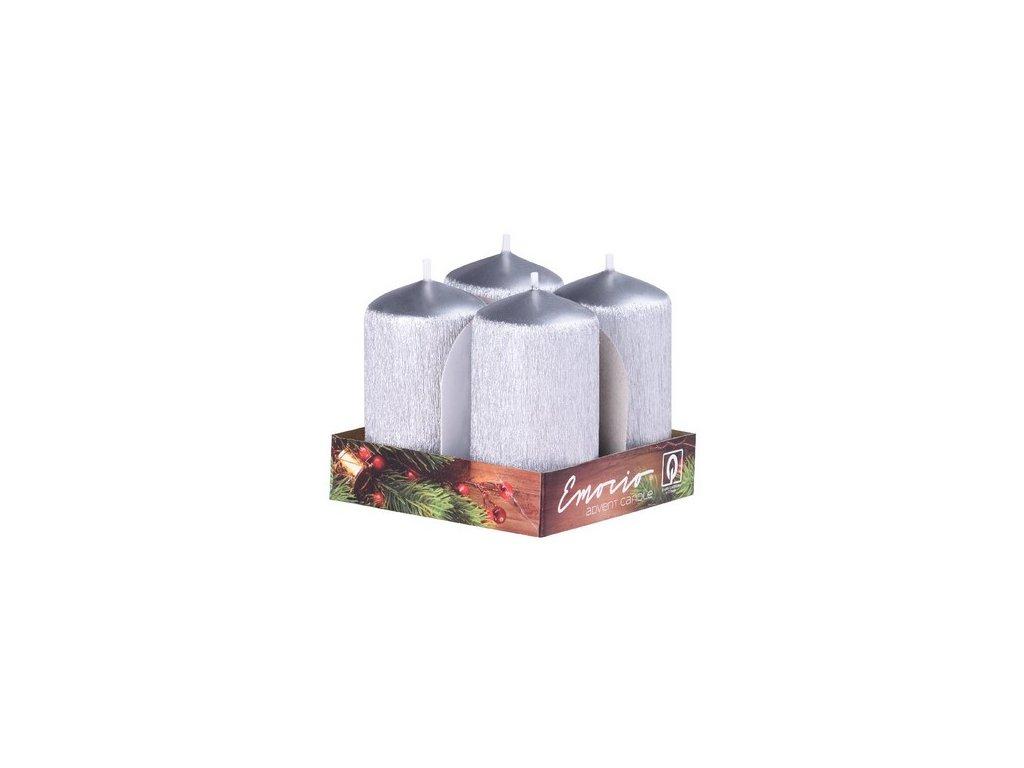 Adventní svíčka 4 cm, drápaná