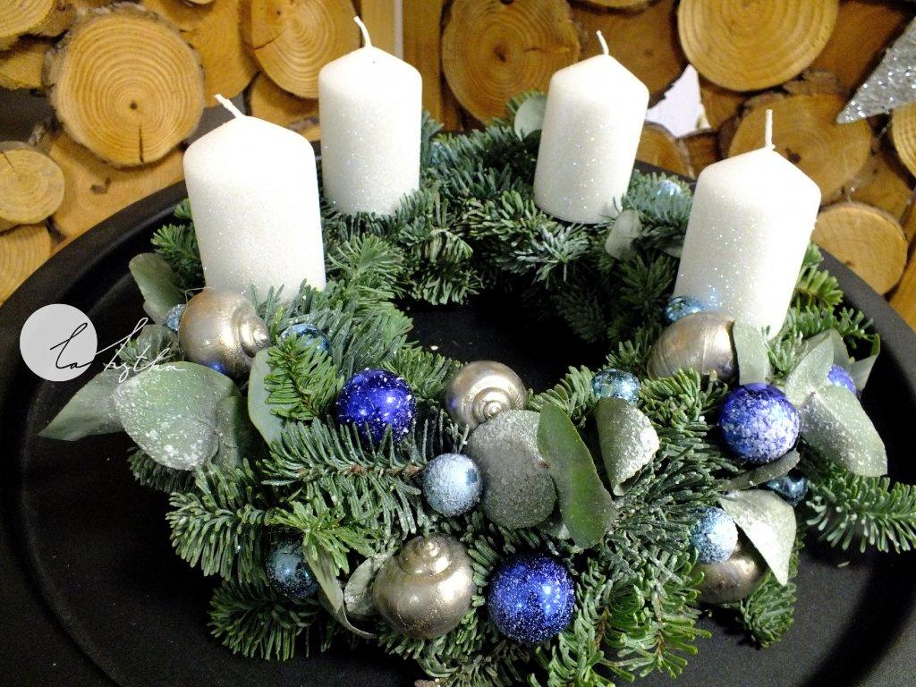Adventní věnec - modrý