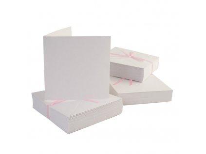 Set kartička + obálka - bílá