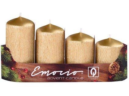 Adventní svíčka 4 cm, drápaná - stupně