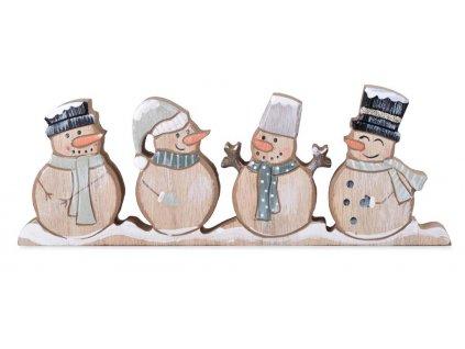Dřevění sněhuláci