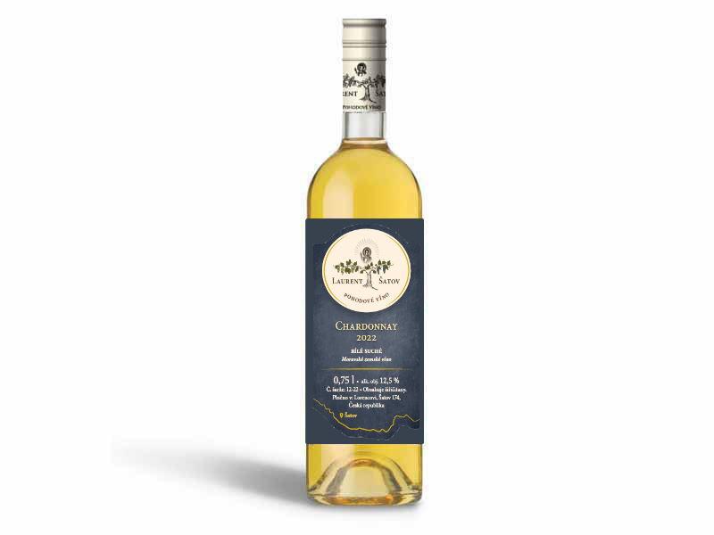 Vinařství Laurent Šatov Chardonnay 2020 pozdní sběr 0,75l