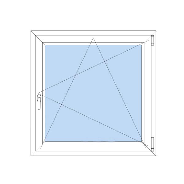 Technický nákres oken - vysvětlivky