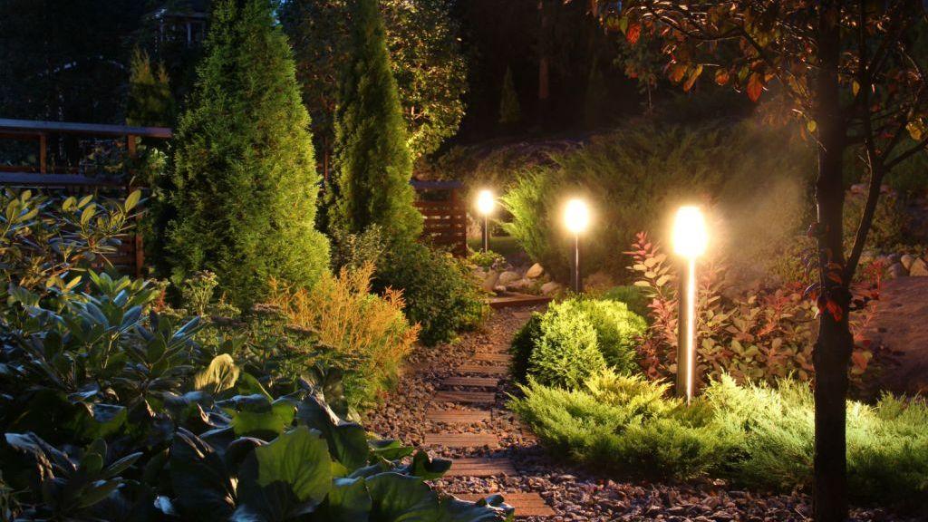 LED osvětlení zahrady