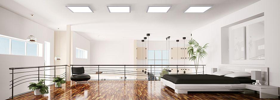 LED panely v ložnici