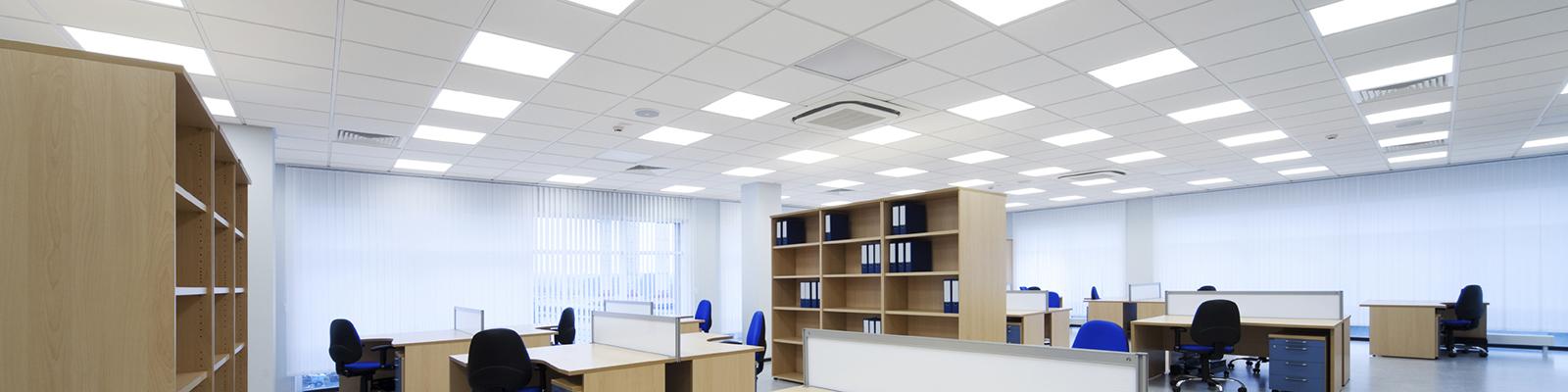 LED panely v kanceláři