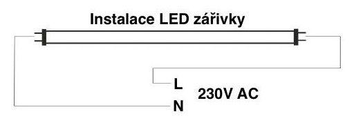 LED zářivka - oboustranné napájením