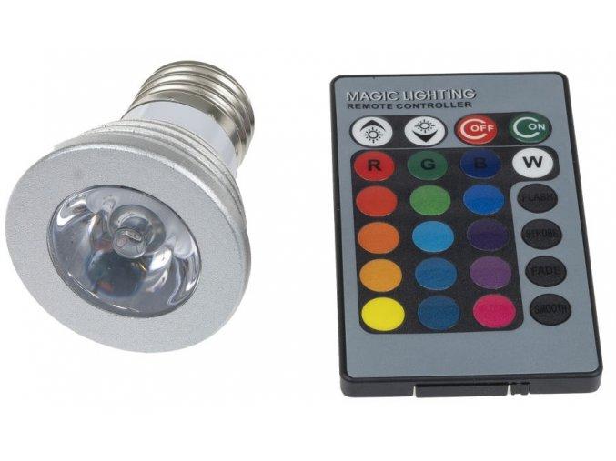 LED žárovka RGB 3W E27
