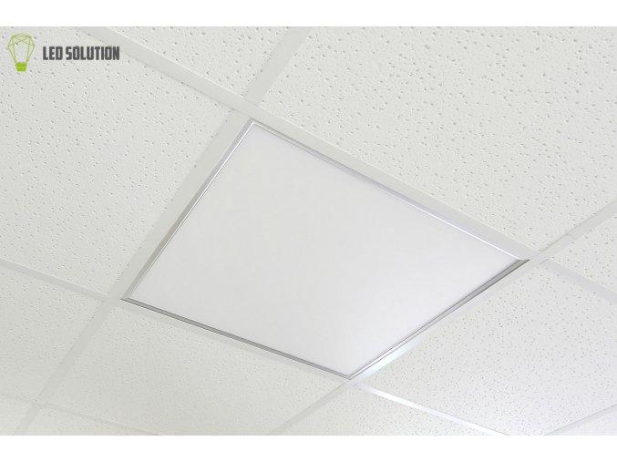 Stříbrný podhledový LED panel 600 x 600mm 40W premium stmívatelný s DO