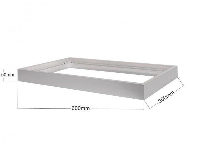66222 4 stribrny ramecek pro led panel 300 x 600mm