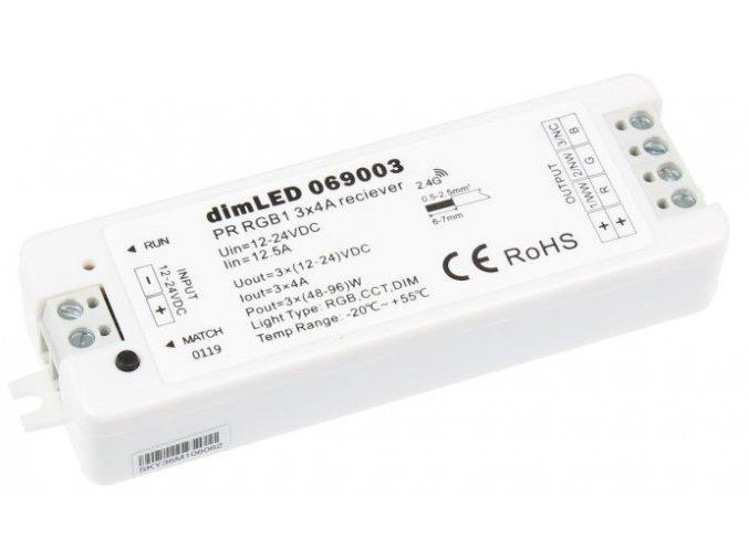 Přijímač dimLED pro LED pásky RGB