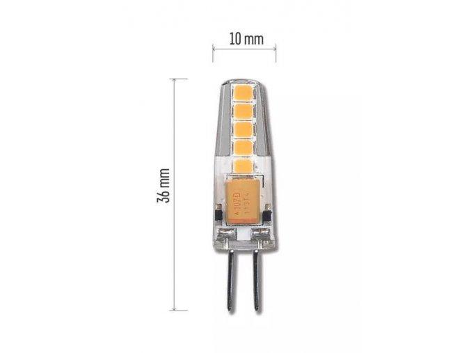 LED žárovka 2W G4 12V (Barva světla Teplá bílá)