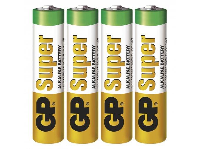 Alkalická baterie GP Super AAA (LR03), 4ks