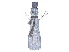 LED vánoční sněhulák ratanový