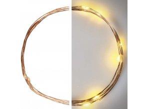 LED vánoční nano řetěz měděný 0,9m