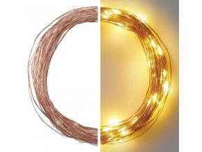 LED vánoční nano řetěz měděný 10m