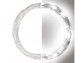 LED vánoční nano řetěz stříbrný 10m