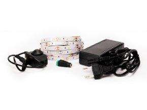 LED pásek 12W/m 12V bez krytí IP20 5 metrů + adaptér 72W + manuální stmívač